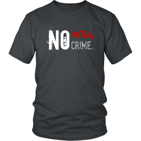 'No Victim No Crime' T-Shirt, merchant of liberty, libertarian shirt, liberty gear