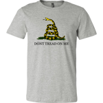 "Don't Tread On Me T-Shirt There isn't a more classic way of letting your friends know of your pride for liberty, than a ""Don't Tread On Me"" shirt. If you're a veteran, this shirt may be the perfect liberty apparel for you. Merchant Of Liberty, libertarian t-shirt, Dont Tread On Me Shirt"
