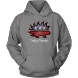 Libertarian Porcupine hoodie, merchant of liberty, liberty gear, ron paul, liberty gear, libertarian t-shirts