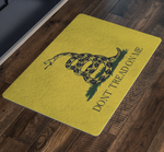 Don't Tread On Me - Doormat, merchant of liberty, liberty gear, conservative shirts, libertarian shirts