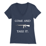"Come And Take It women's t-shirt, You can't really make a more bold statement than, ""Come and take it"" directed towards the people who have never pulled a trigger.  Here is some more info for our Come And Take It t-shirt, merchant of liberty, pro-gun t-shirt, second amendment t-shirt, 2nd amendment shirt"