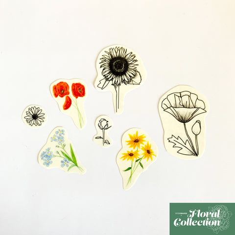 Combo Florals Temporary Tattoos