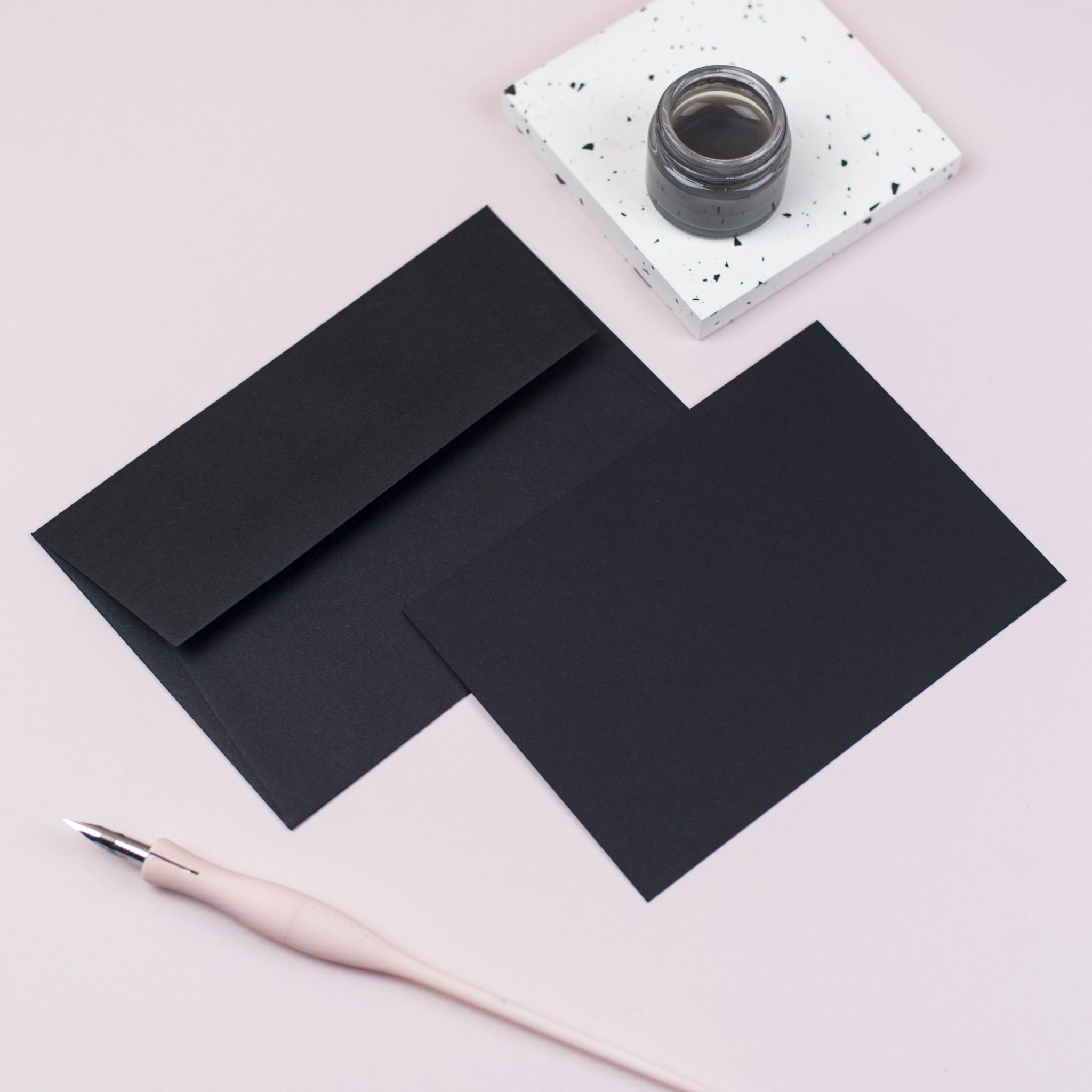 Luxury black notecards and envelopes