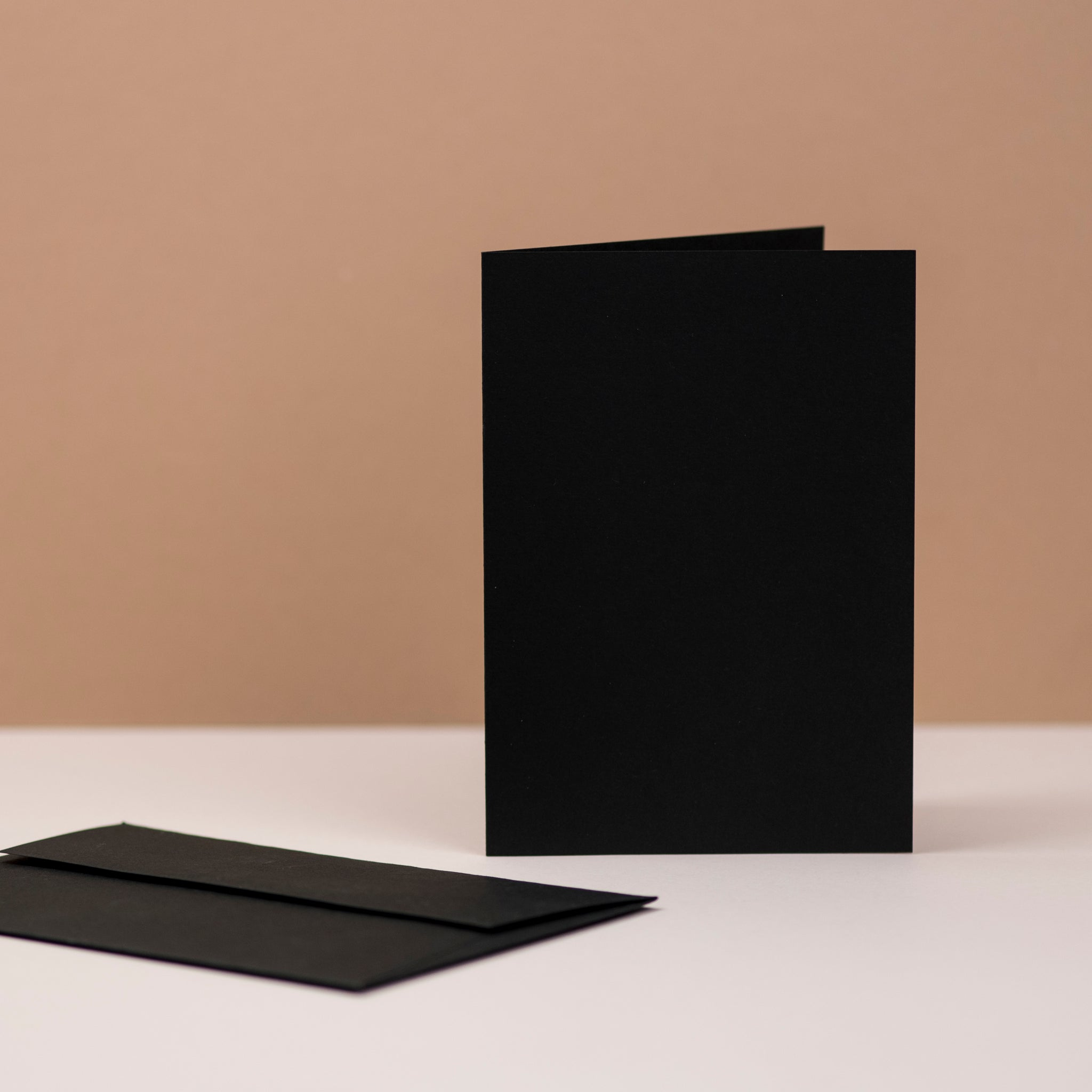 Luxury black greetings cards and envelopes