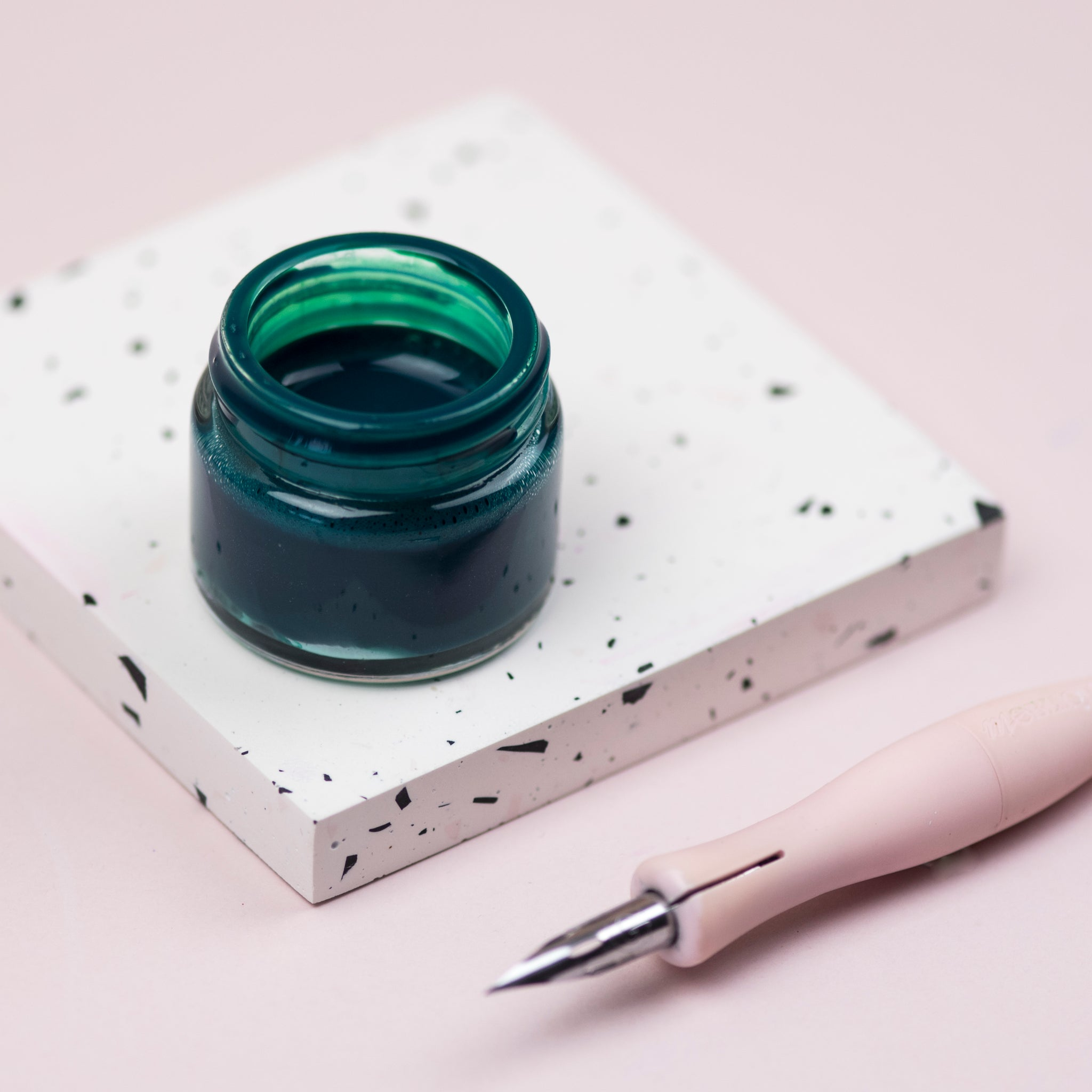 Emerald Green Calligraphy Ink