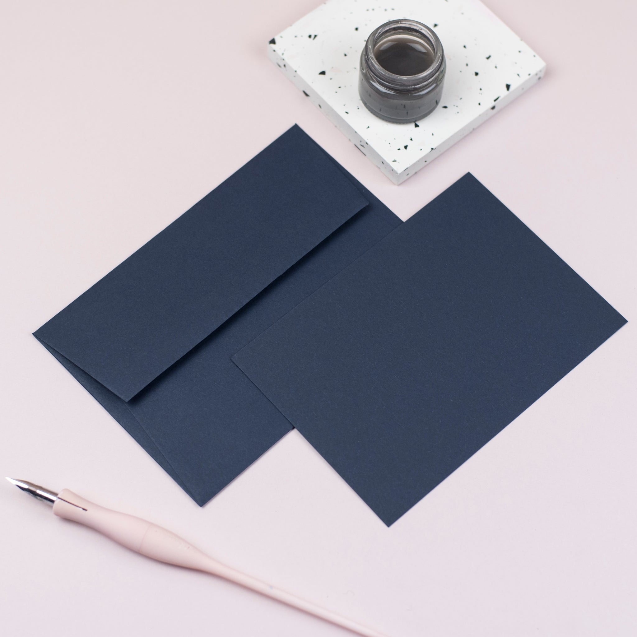 Luxury navy notecards and envelopes