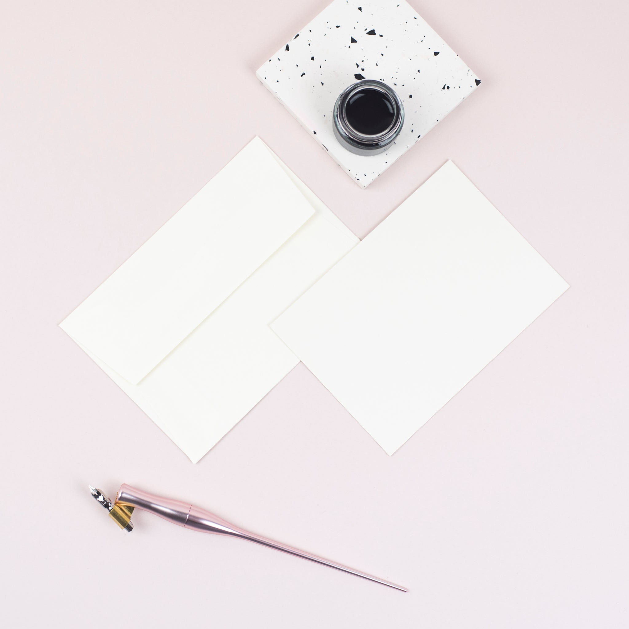 Luxury ivory notecards and envelopes