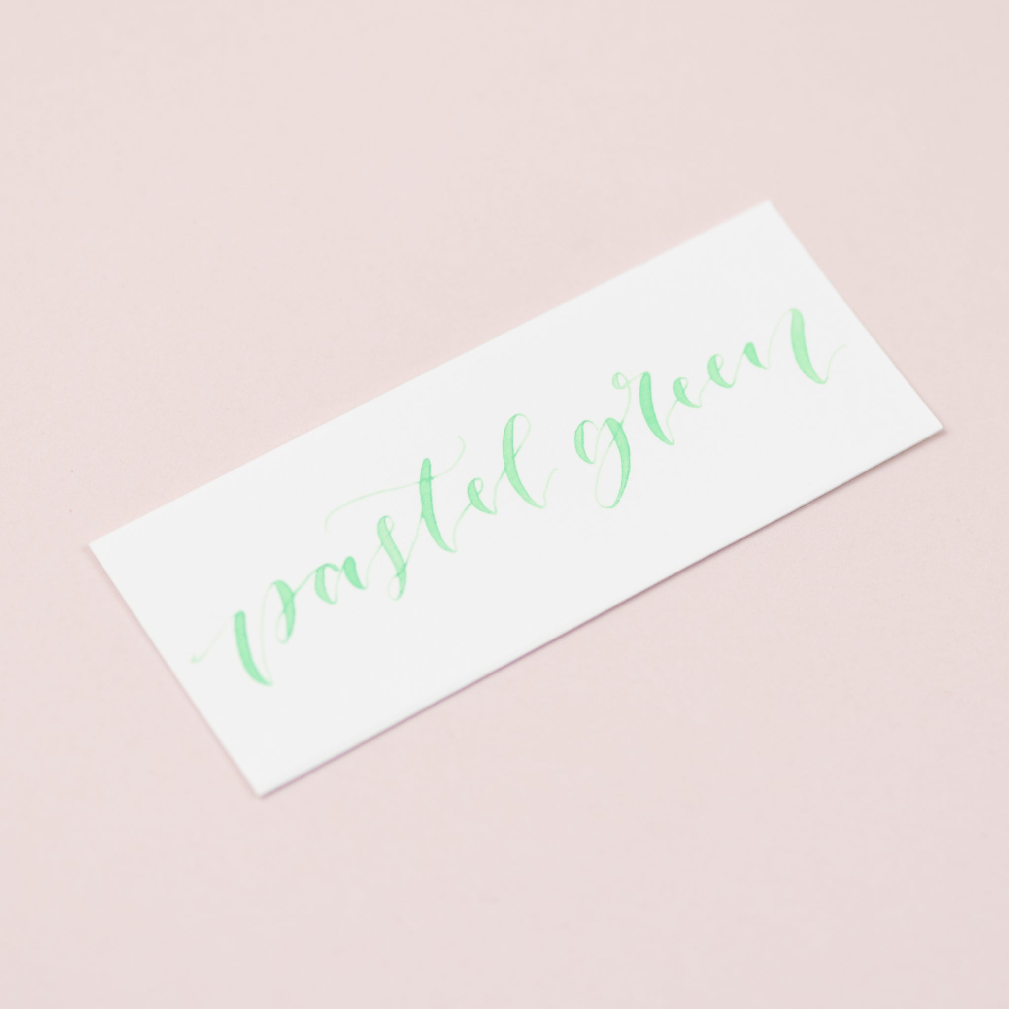 Pastel Green Calligraphy Ink