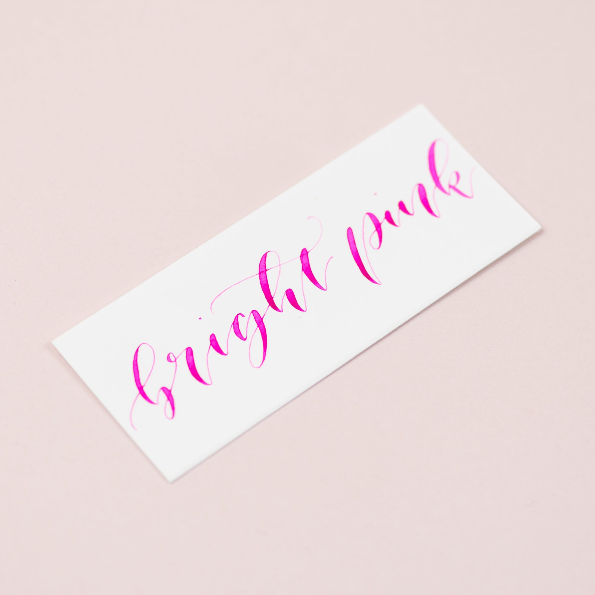 Bright Pink Calligraphy Ink