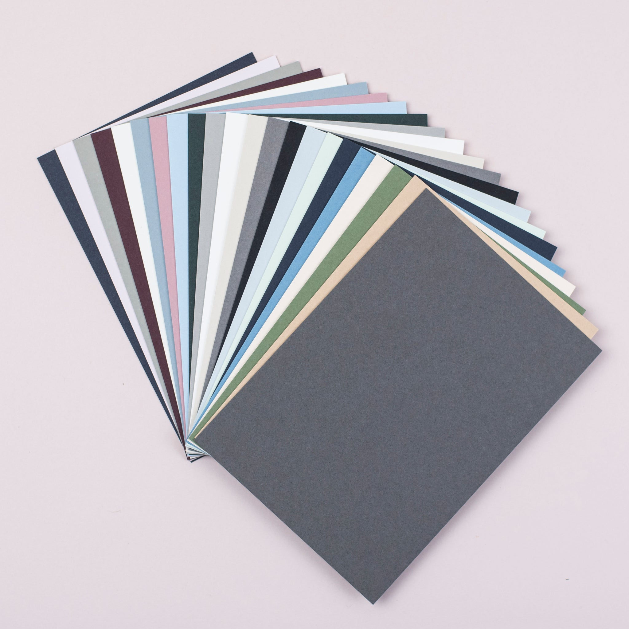 Luxury mid grey notecards and envelopes