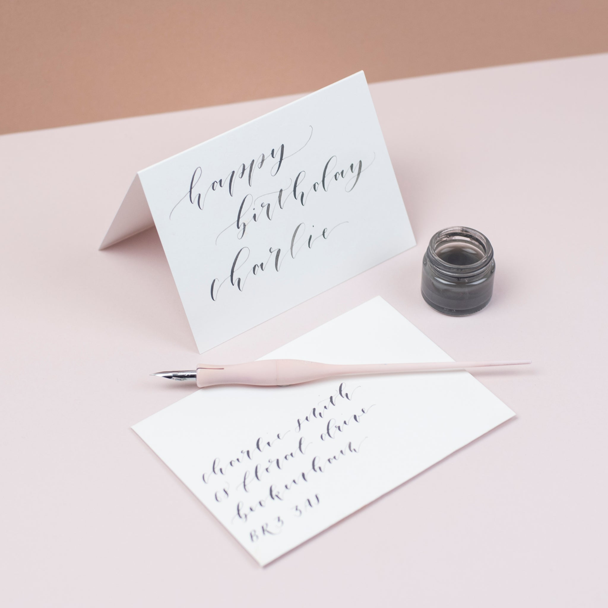Luxury pale grey greetings cards and envelopes