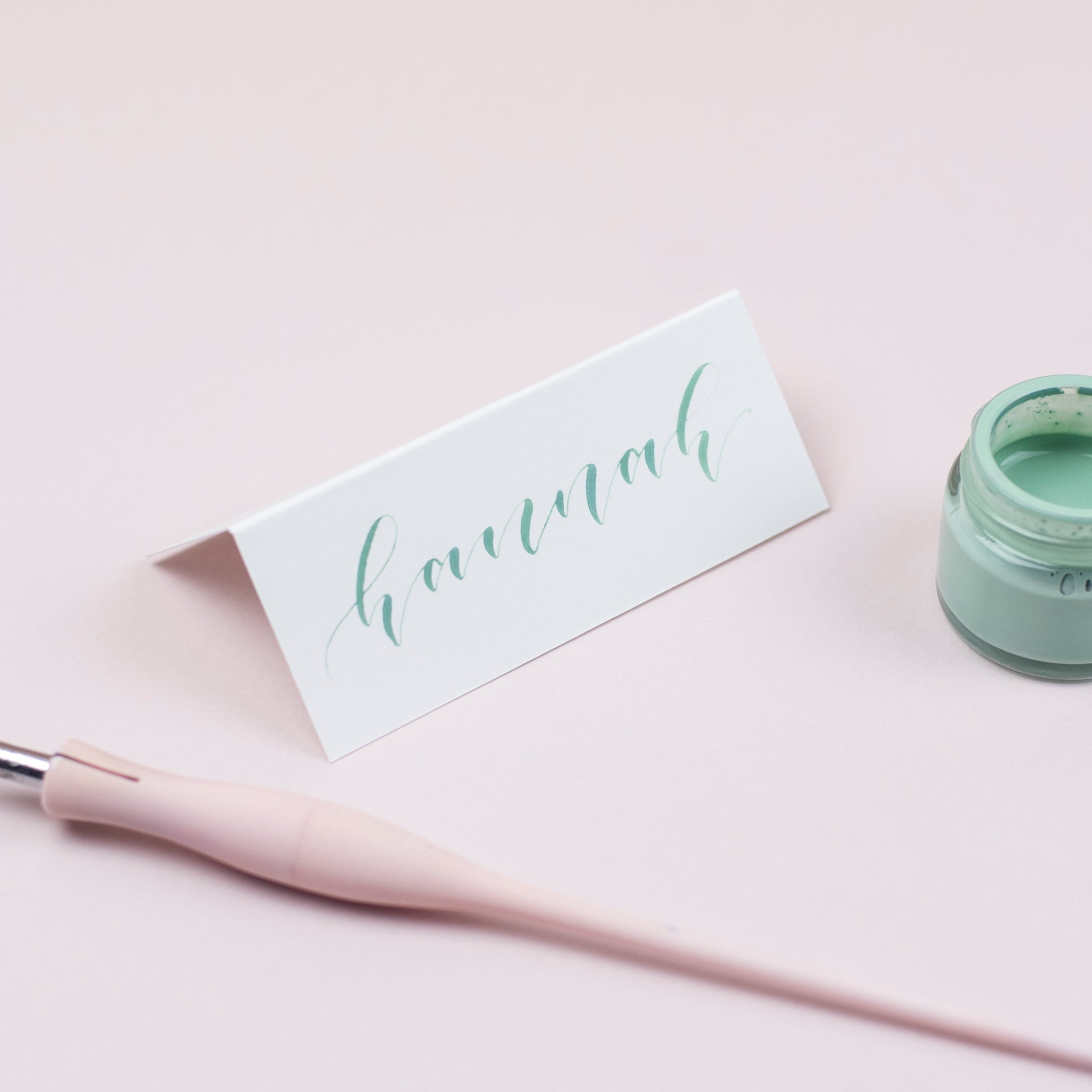 Luxury sage place cards