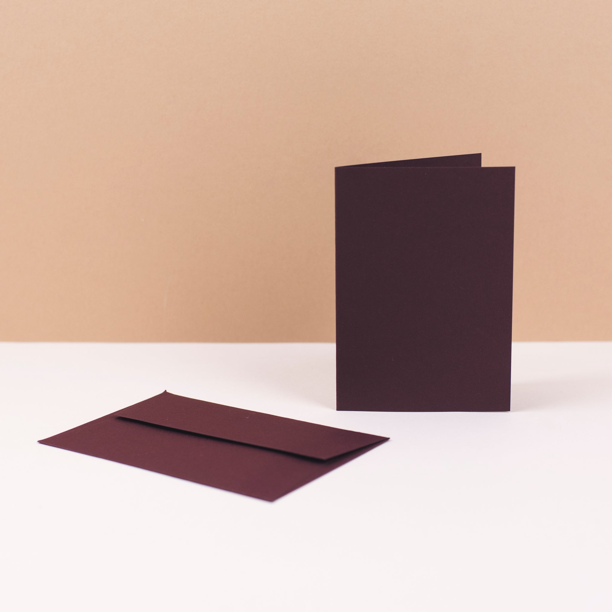 Luxury burgundy greetings cards and envelopes