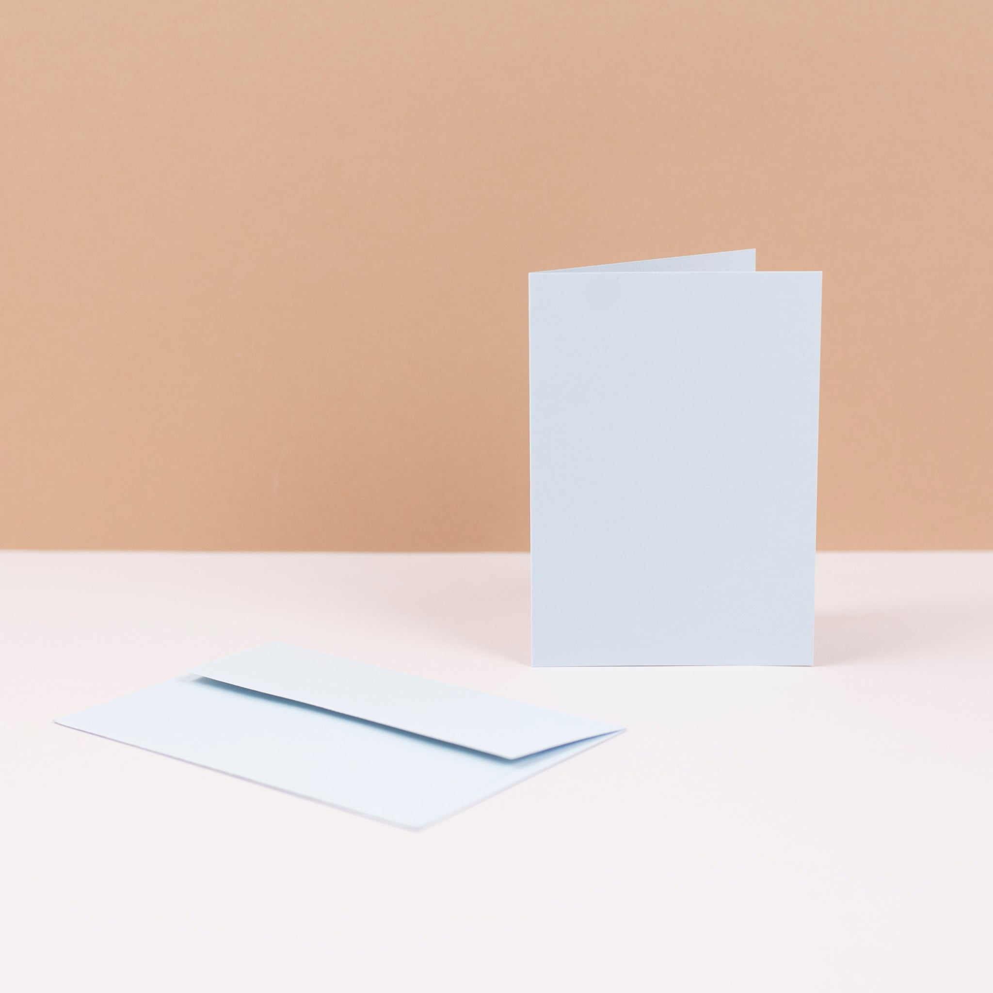 Luxury pale blue greetings cards and envelopes