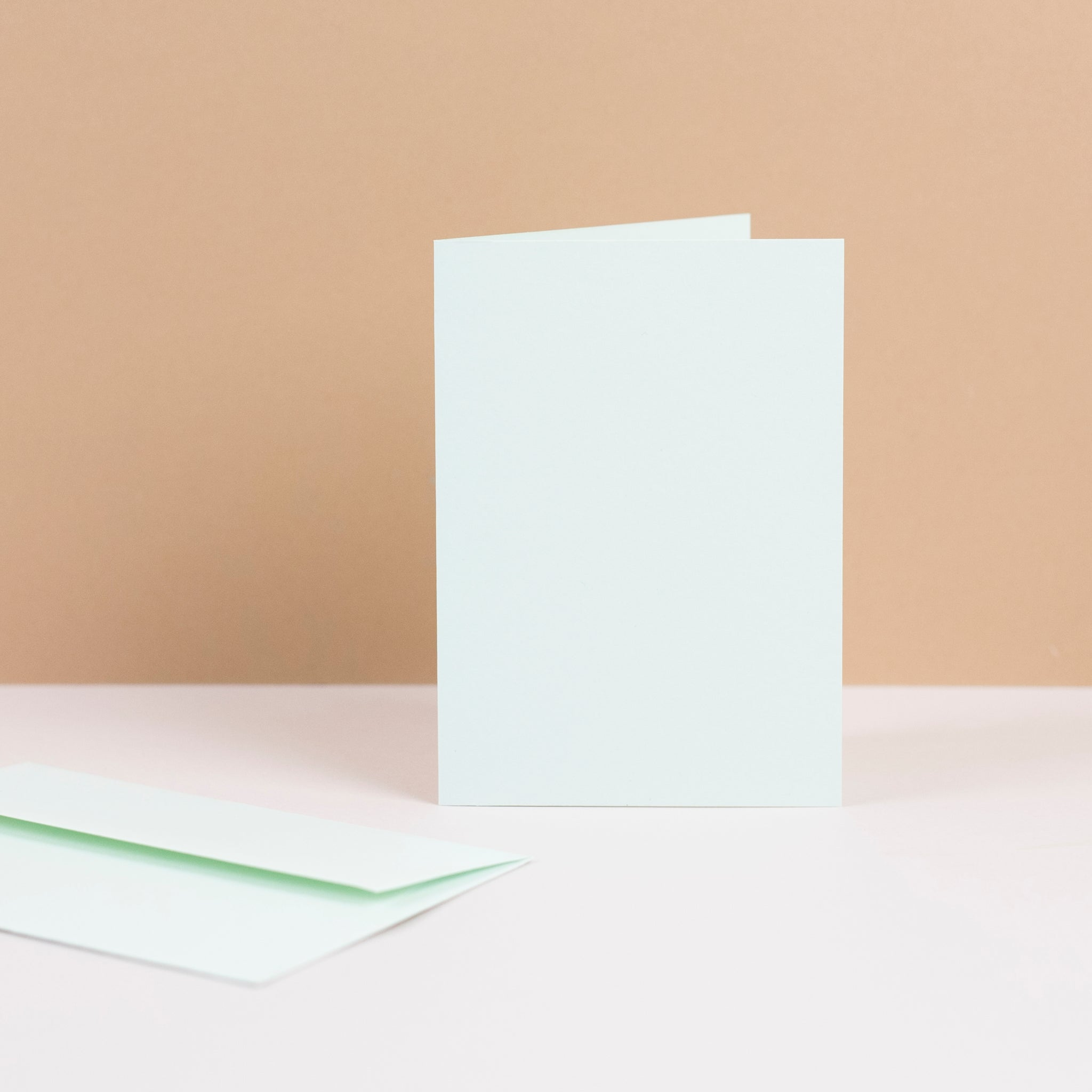 Luxury mint greetings cards and envelopes