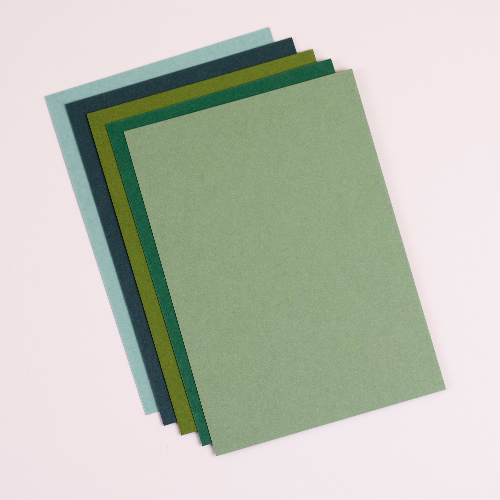 Green set of notecards and envelopes