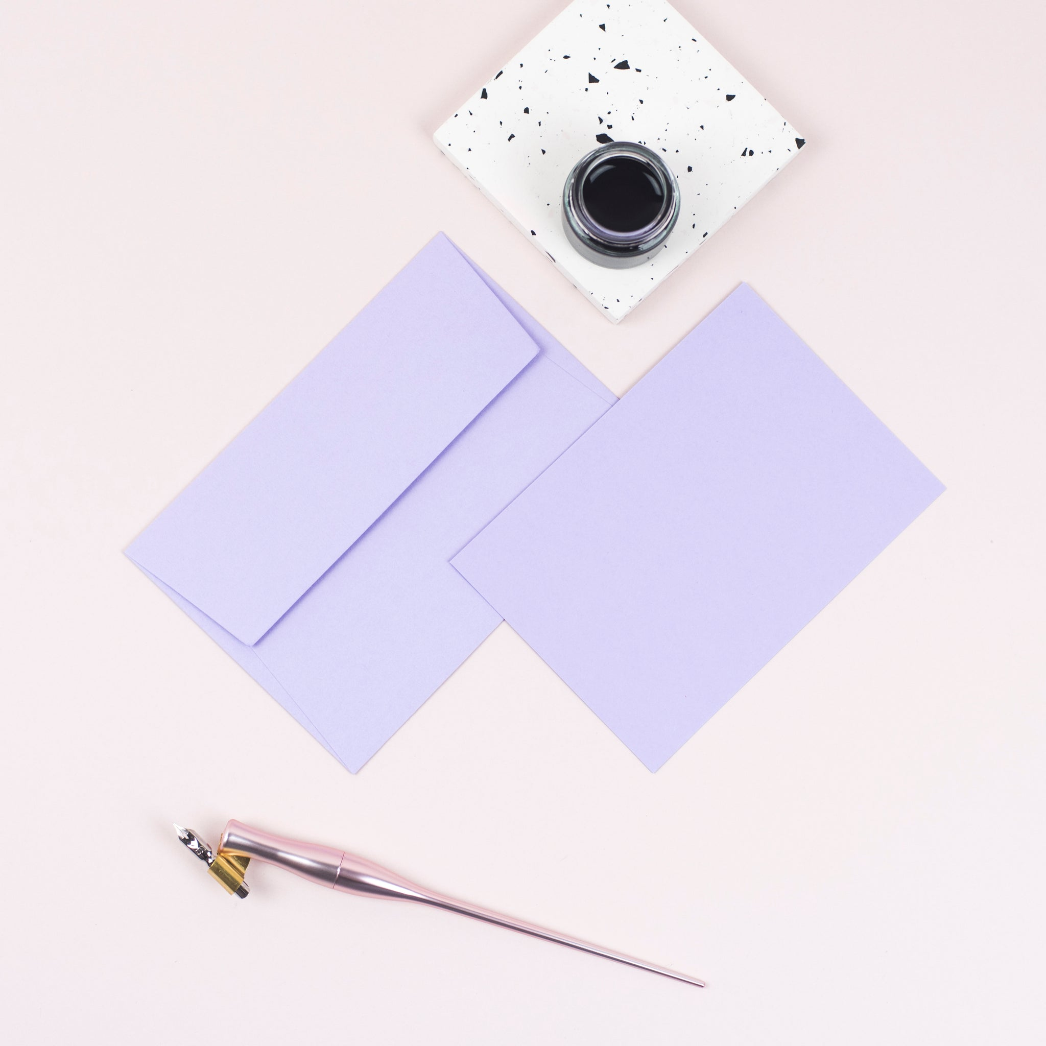 Luxury lavender notecards and envelopes