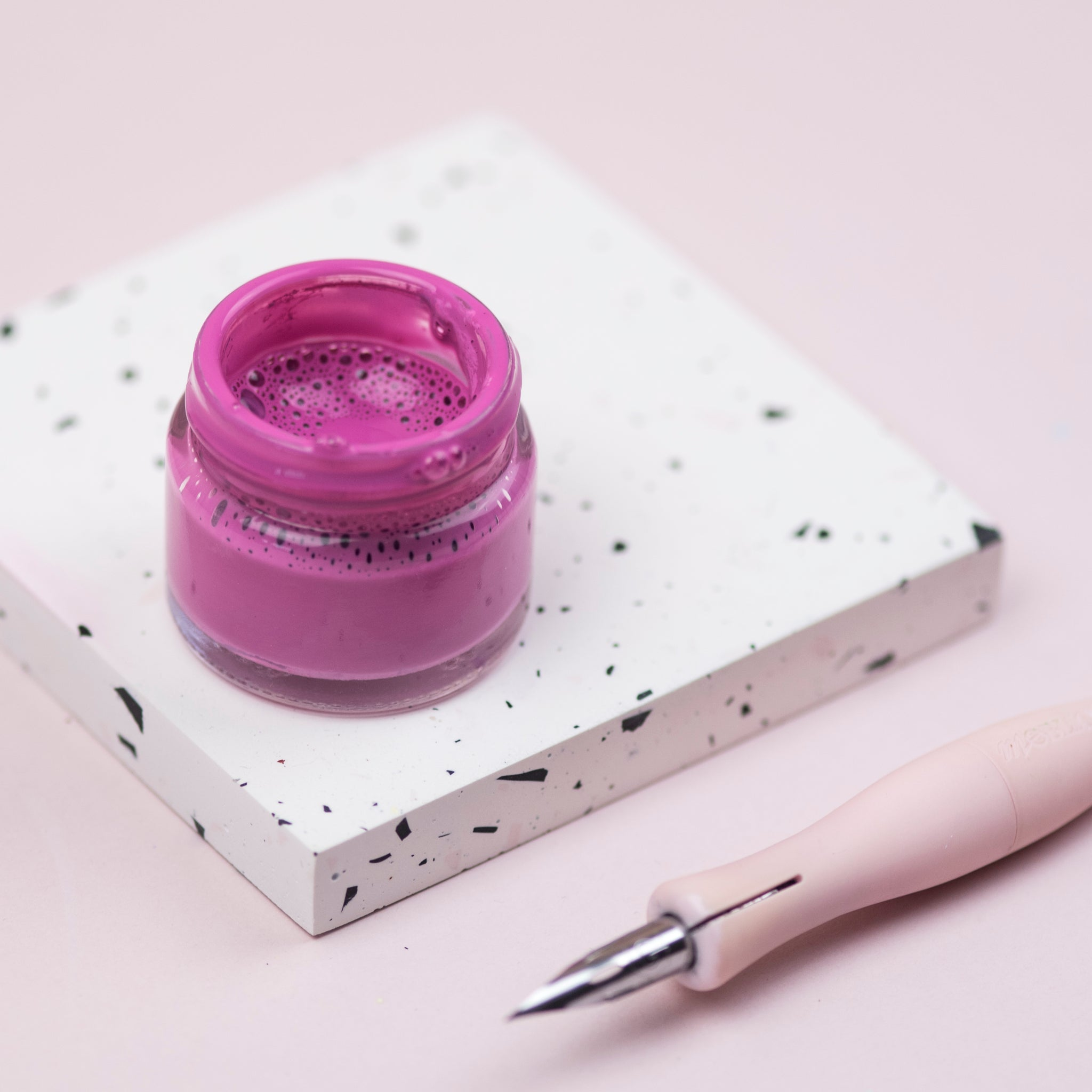 Mauve Calligraphy Ink