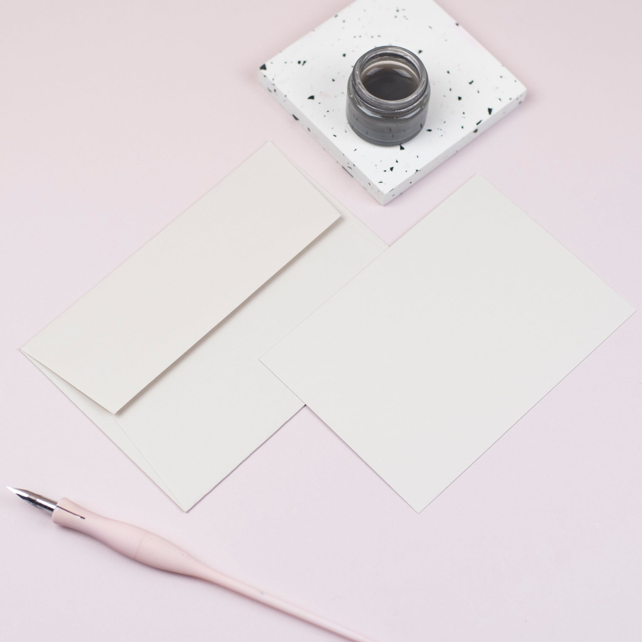 Luxury latte notecards and envelopes