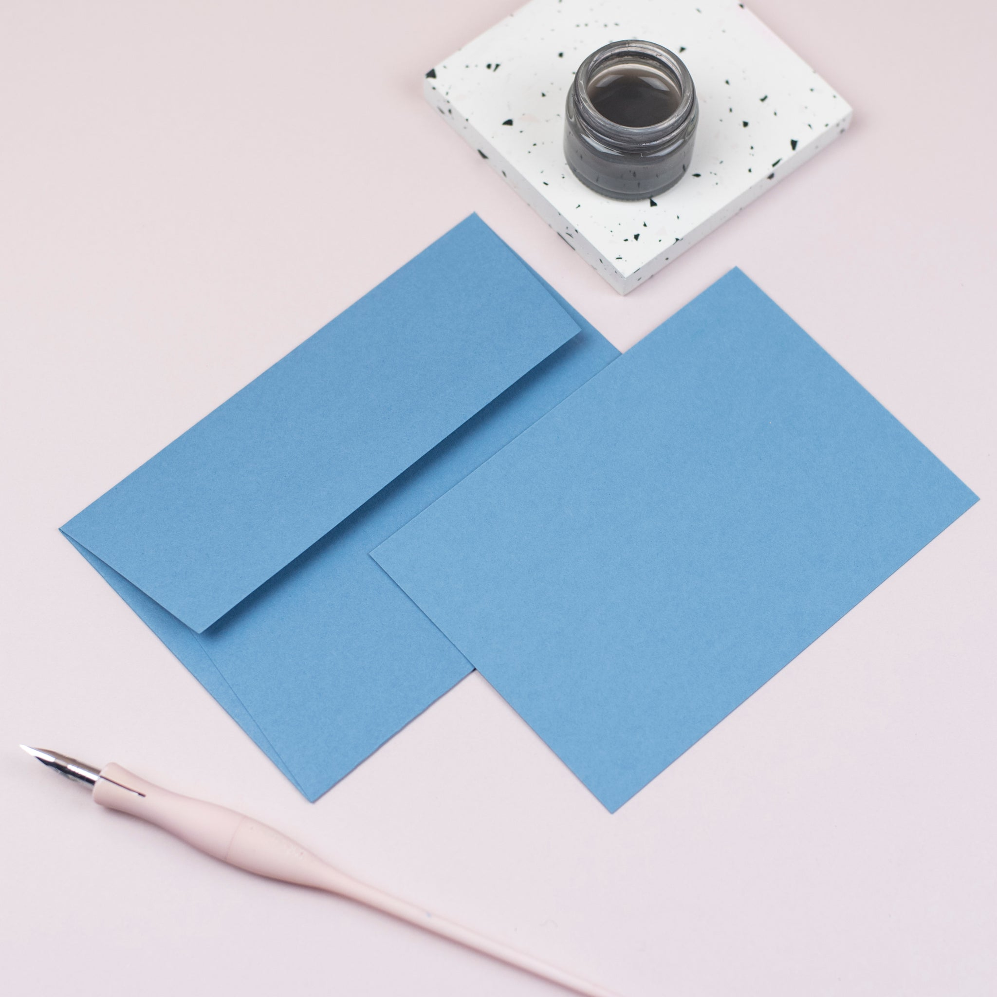Luxury cornflower notecards and envelopes