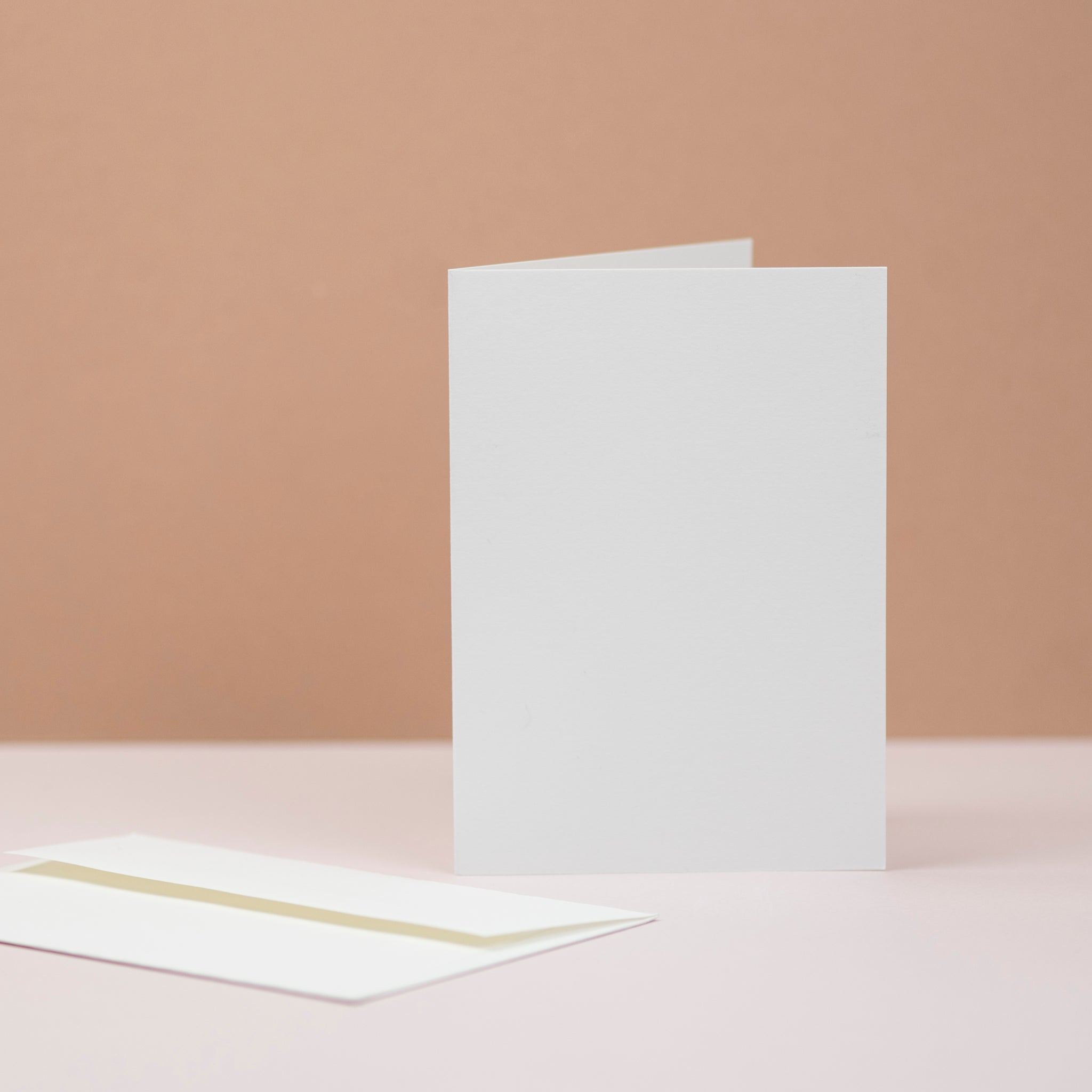 Luxury white greetings cards and envelopes