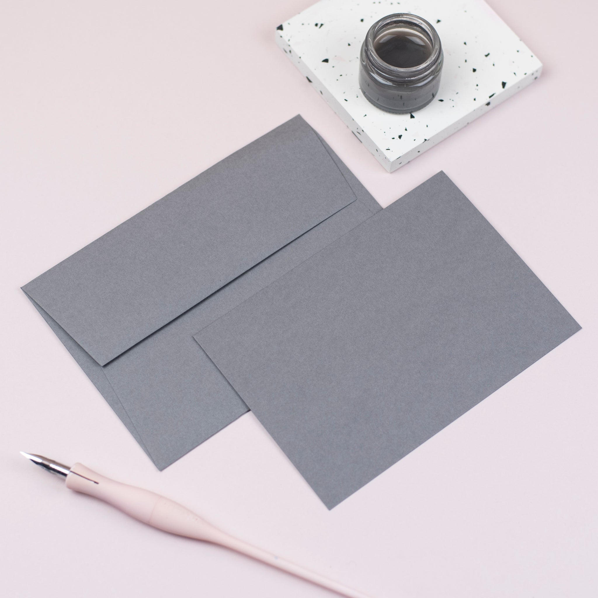 Luxury smoke notecards and envelopes