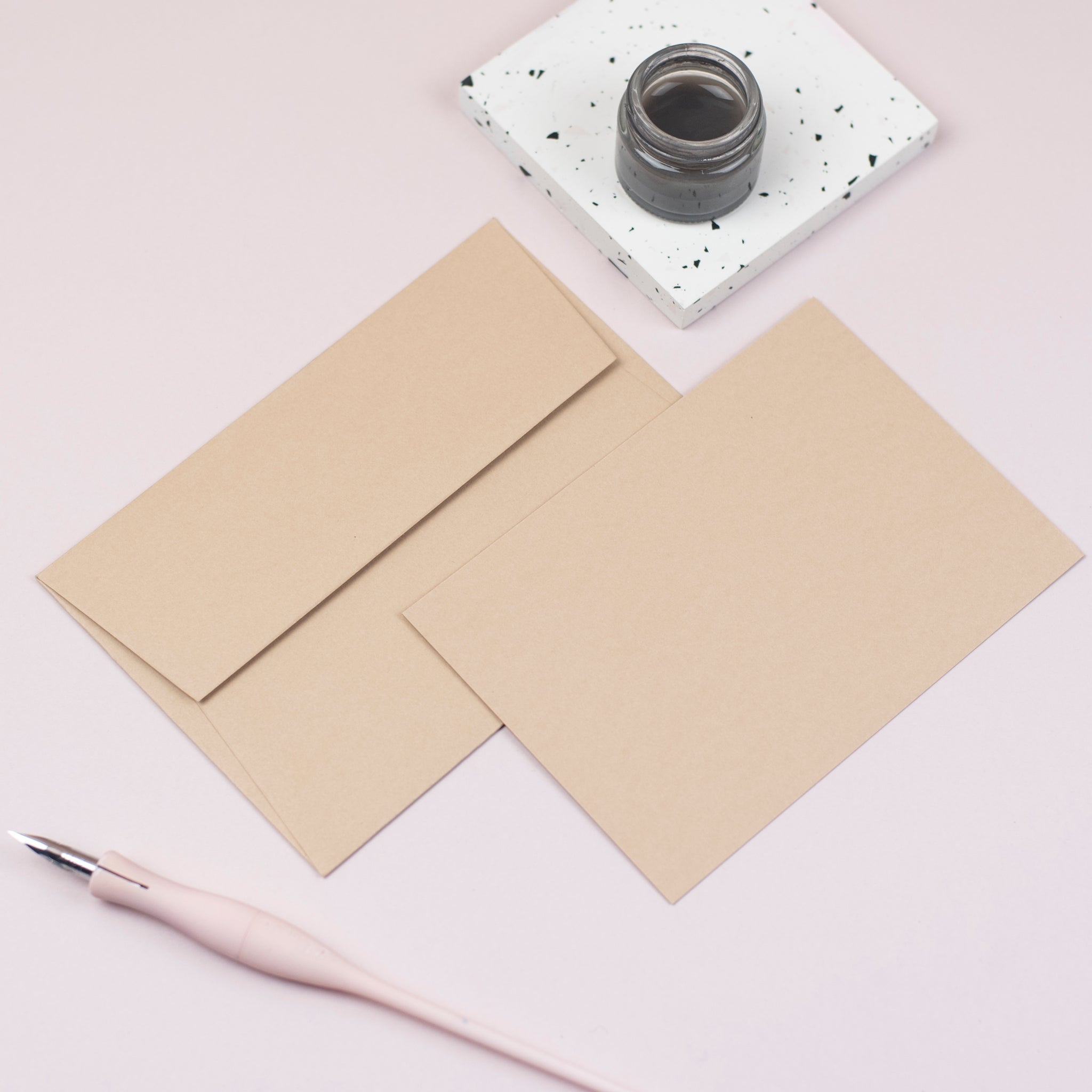 Luxury sand notecards and envelopes