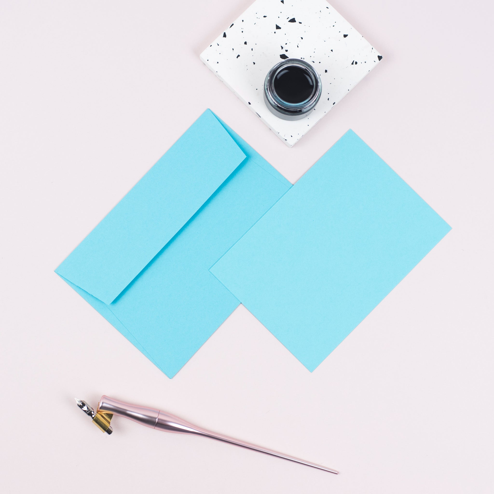 Luxury turquoise notecards and envelopes