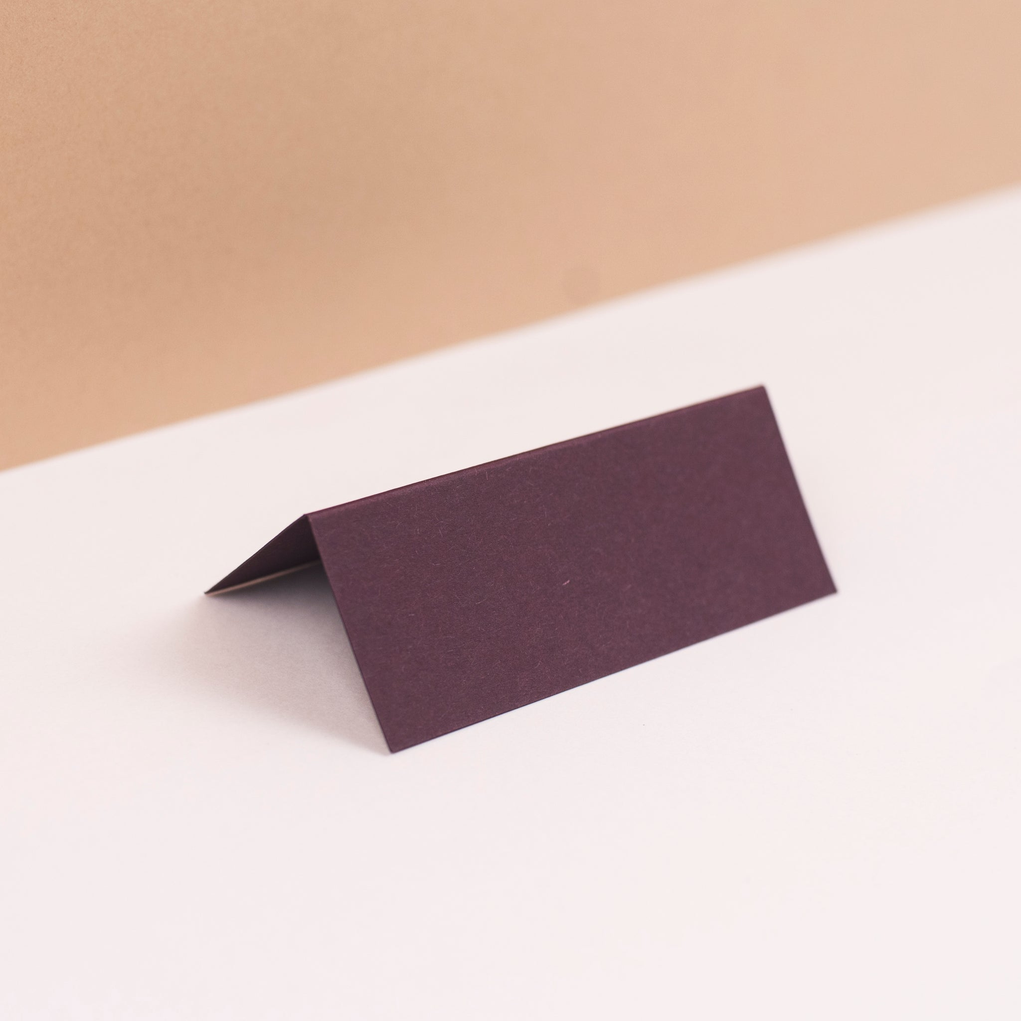 Luxury burgundy place cards