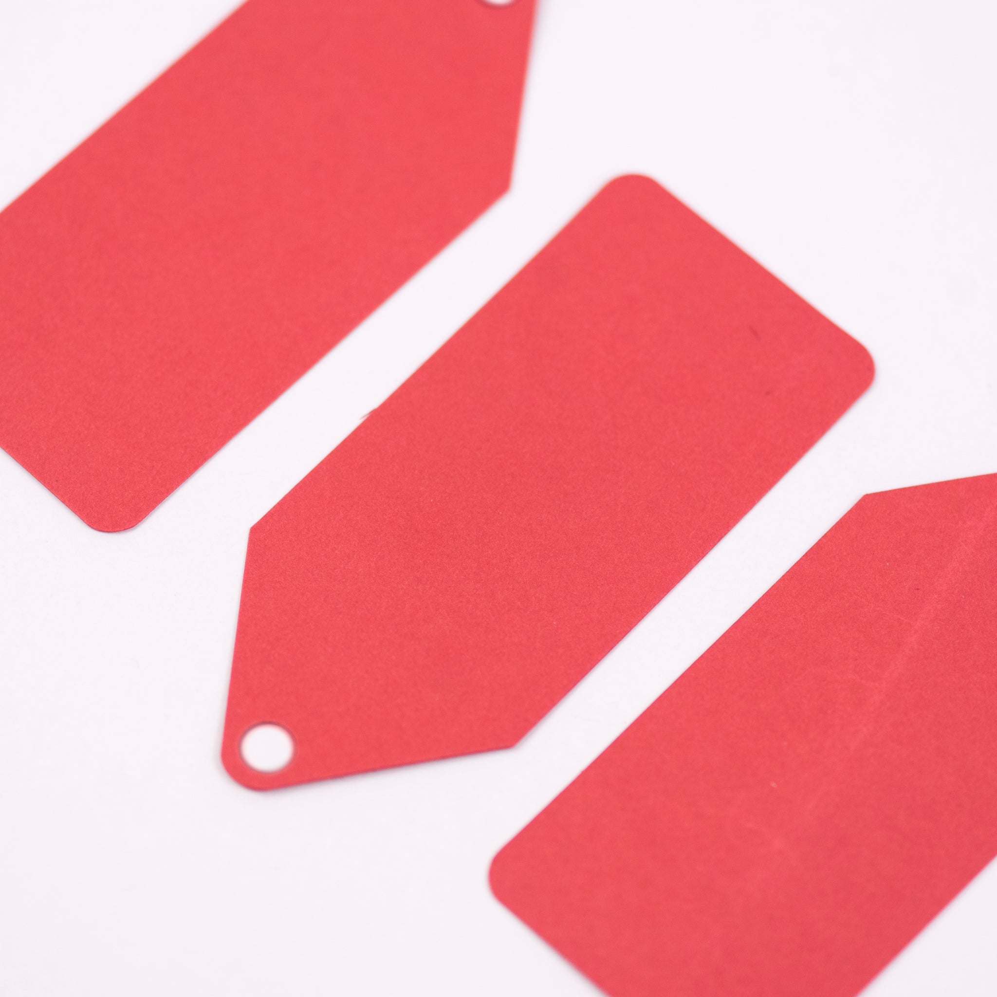 Luxury red gift tags