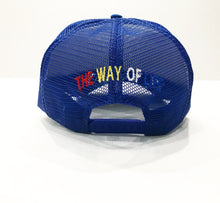 Load image into Gallery viewer, LOGO TRUCKER HAT ROY/WHT