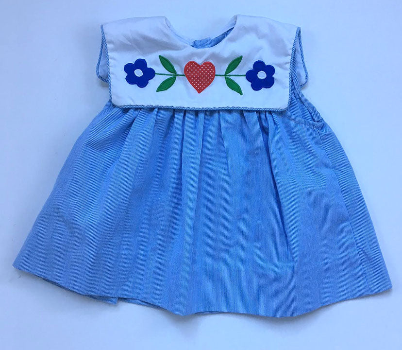 Vintage Embroidered Dress 9mo