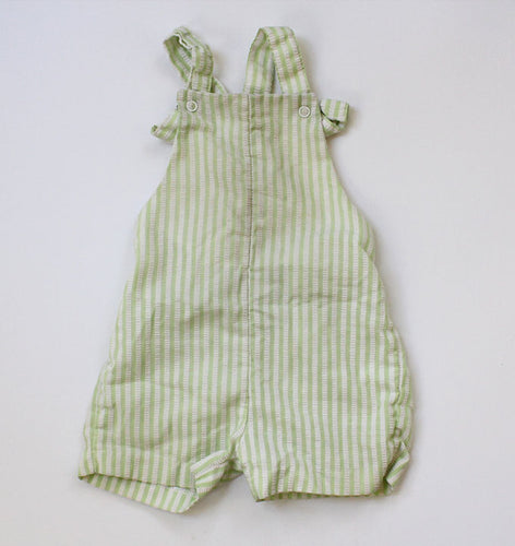 Sage Green striped Vintage playsuit 2T