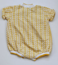 Load image into Gallery viewer, Vintage Mustard floral Playsuit 24mo
