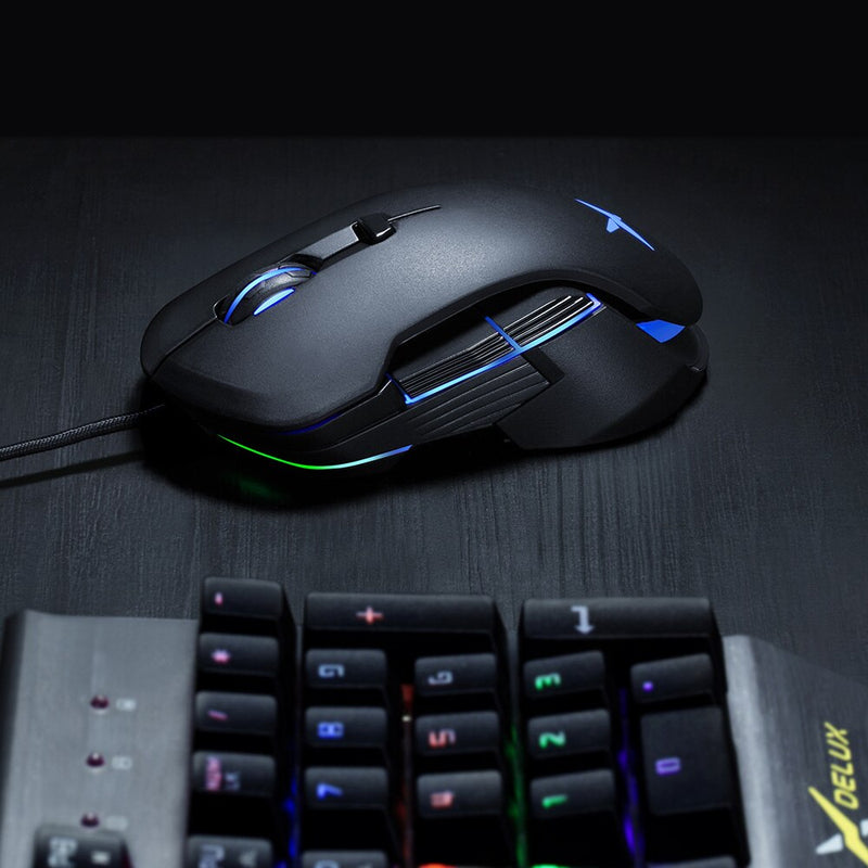 Delux M627S Customizable gaming mouse