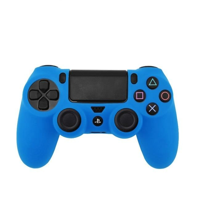 PS4 controller blue skin