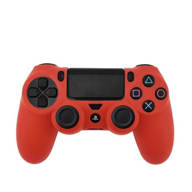 PS4 controller red skin