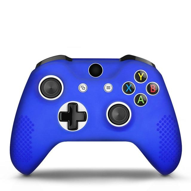 Xbox One controller blue skin