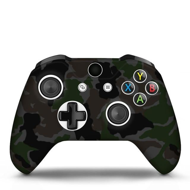 Xbox One controller dark grey camo skin