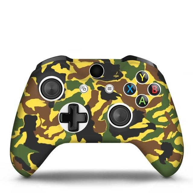 Xbox One controller yellow camo skin