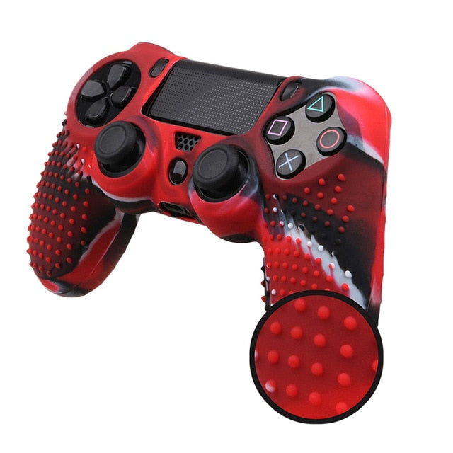 PS4 controller red camo skin