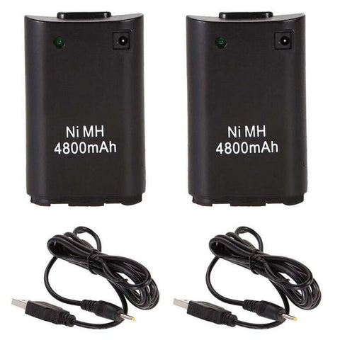2x Battery Pack for Xbox 360 controllers