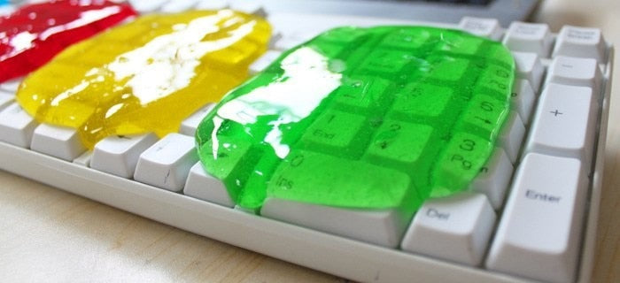 Keyboard cleaning gel