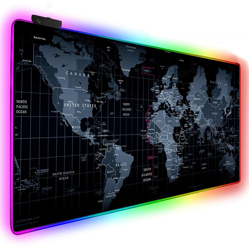 World Map RGB mousepad XL