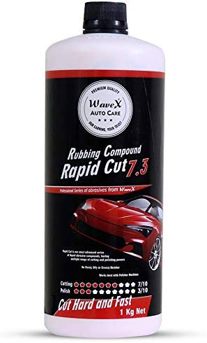 Wavex® Rapid Cut 7.3 Rubbing Compound (Cut 7/10, Polish 3/10) Cut Hard and Fast, 1 Kg
