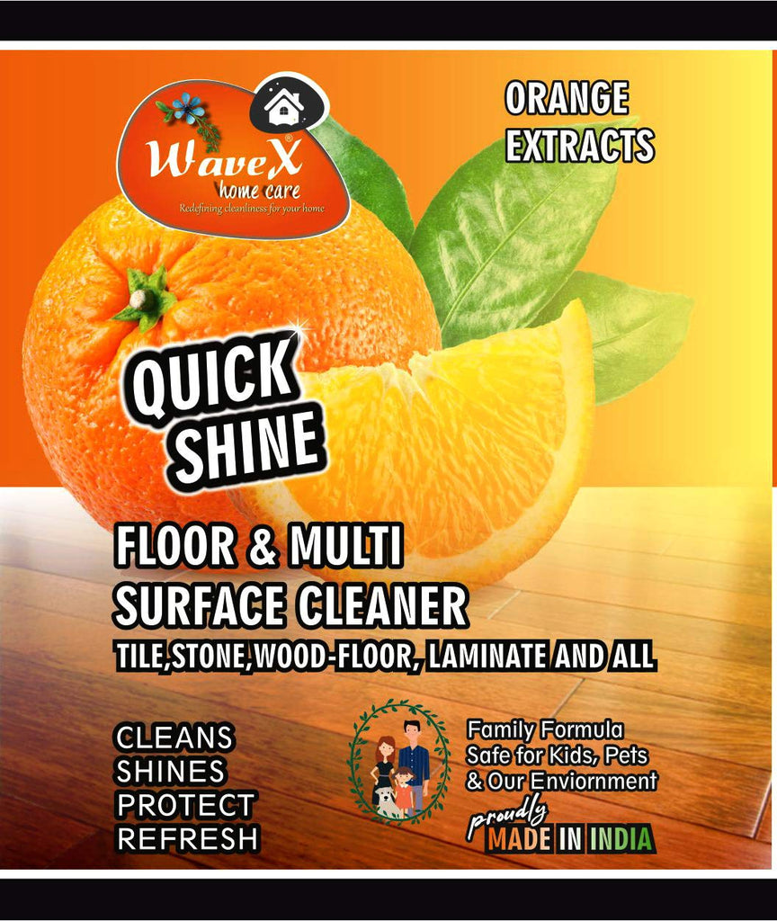 Wavex Multi Surface Floor Cleaner with Orange Oil Extracts | Cleans and Shines all kinds of Floors