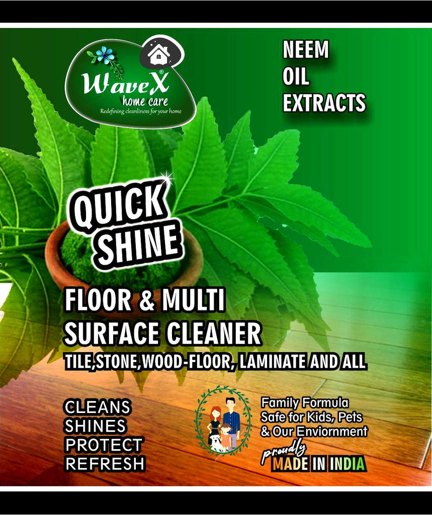 Wavex Floor and Multi Surface Cleaner 1L with Neem Oil Extracts | Cleans and Shines all kinds of Floors