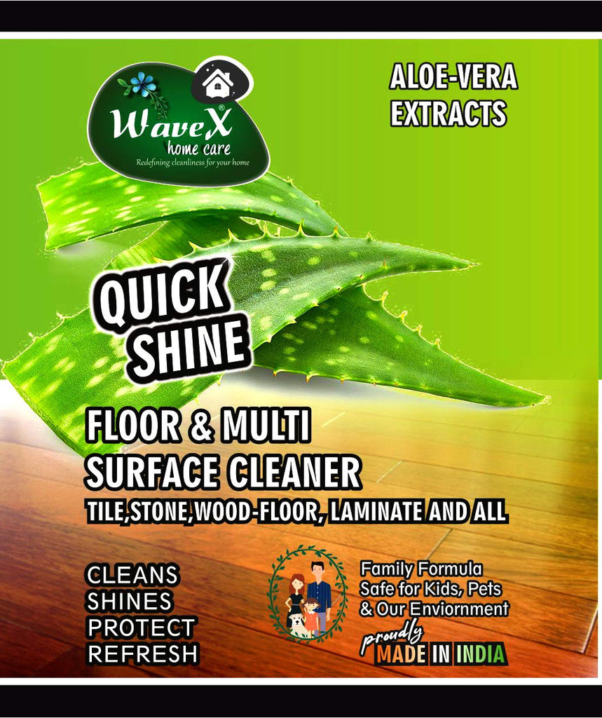 Wavex Multi Surface Floor Cleaner 1L with Aloevera Extracts | Cleans and Shines all kinds of Floors