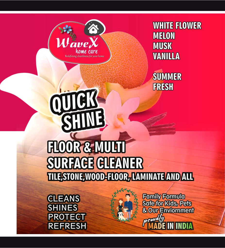 Wavex Multi Surface Floor Cleaner 1L with White Flowers, Melon, Musk, Vanilla Extracts | Cleans and Shines all kinds of Floors