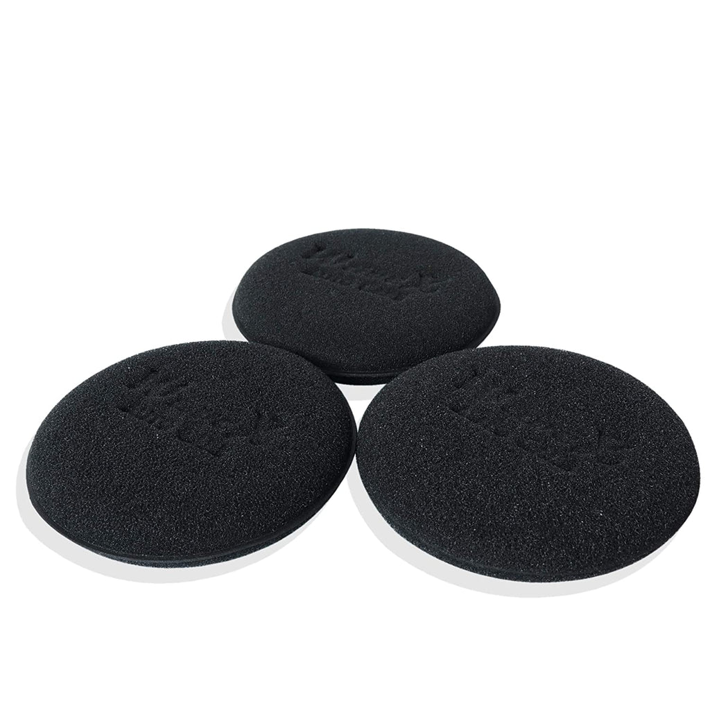 Wavex Ultrafine Foam Sponge Applicator for Tyre Dressing (Pack of 3 Black)